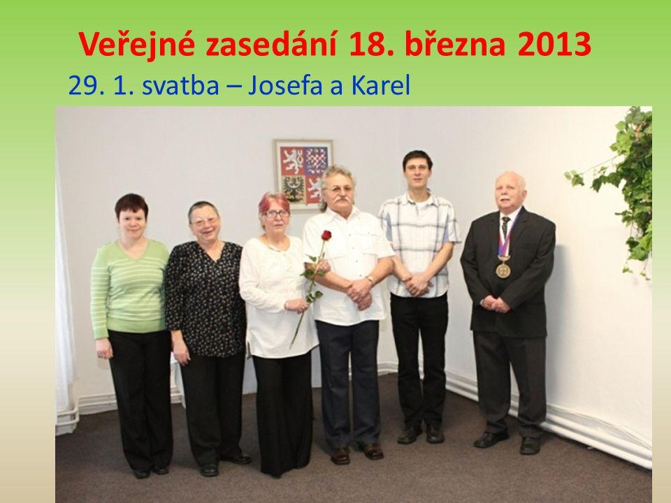29. 1. svatba – Josefa a Karel