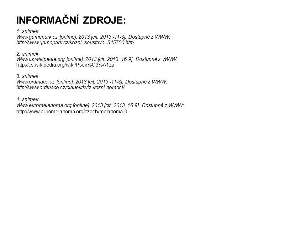 INFORMAČNÍ ZDROJE: 1. snímek Www.gamepark.cz [online].