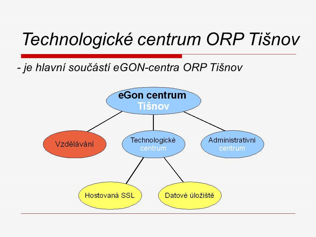 Technologické centrum ORP Tišnov - je hlavní součástí eGON-centra ORP Tišnov