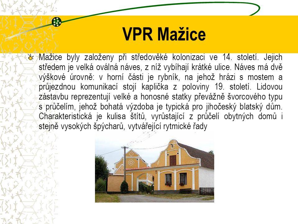 VPR Mažice Mažice byly založeny při středověké kolonizaci ve 14.