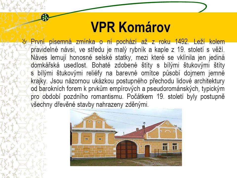 VPR Komárov První písemná zmínka o ní pochází až z roku 1492.
