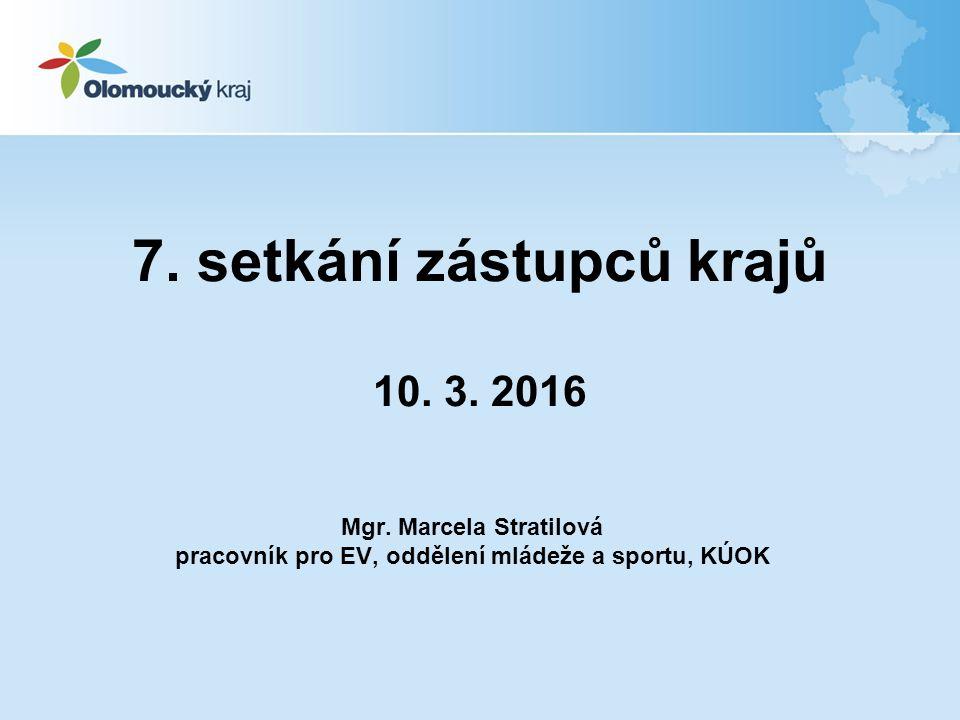 7. setkání zástupců krajů 10. 3. 2016 Mgr.