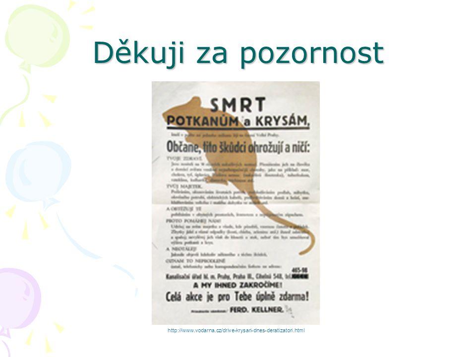 Děkuji za pozornost www.dentalcare.cz http://www.vodarna.cz/drive-krysari-dnes-deratizatori.html