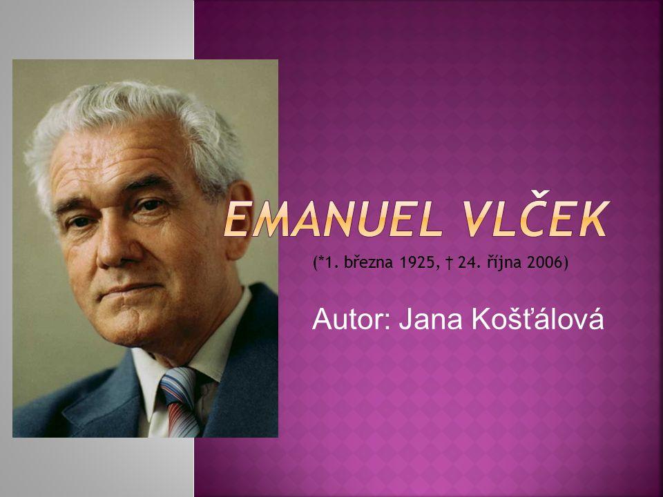  profesor MUDr.et RNDr. h. c. Emanuel Vlček, DrSc.