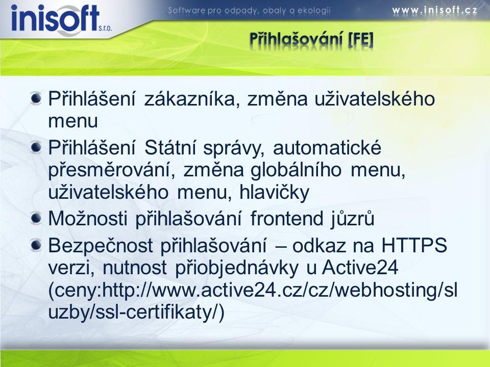 Přihlášení do administrace: http://iniweb.portal.inisoft.cz/administrace