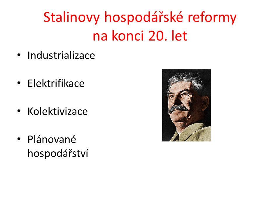 Stalinovy hospodářské reformy na konci 20.