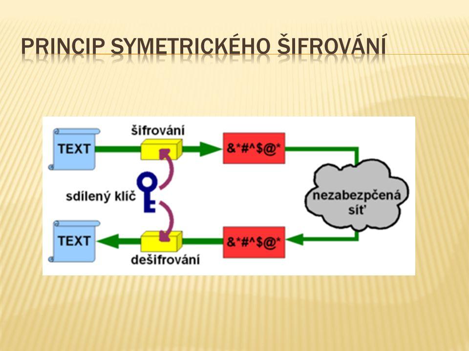  Proudové šifry - jsou šifrovací algoritmy, které mohou zpracovávat zprávu libovolné délky.