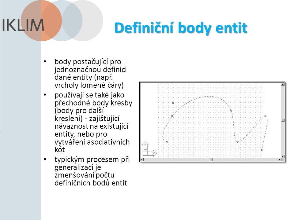Definiční body entit body postačující pro jednoznačnou definici dané entity (např.
