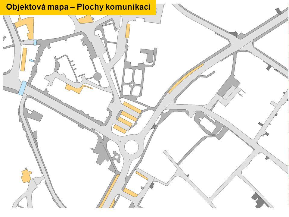 Objektová mapa – Plochy komunikací