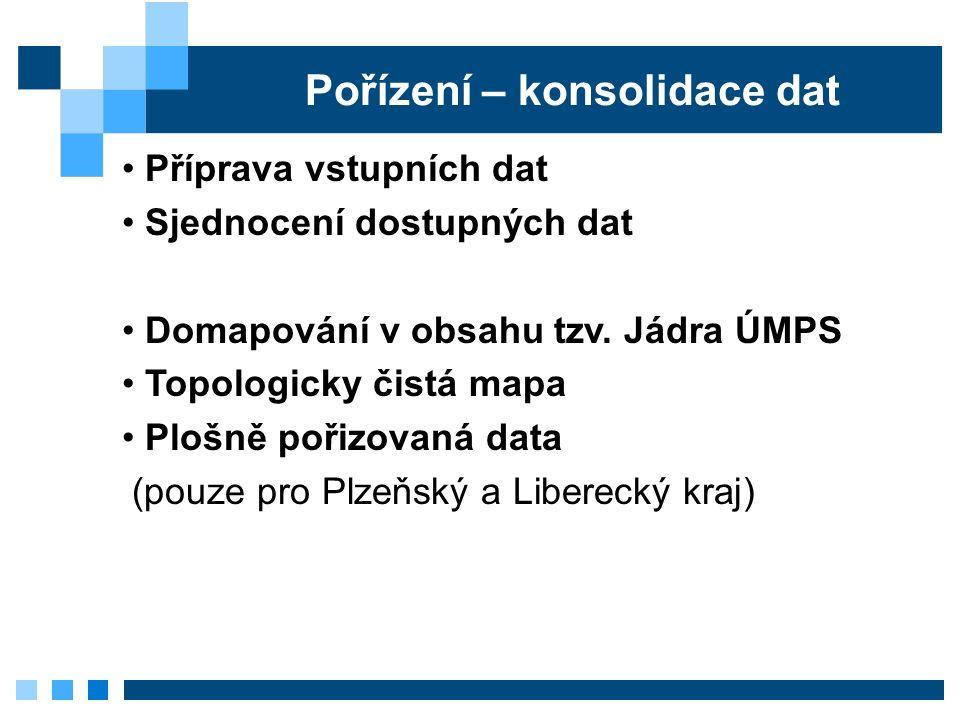 Pořízení – konsolidace dat Příprava vstupních dat Sjednocení dostupných dat Domapování v obsahu tzv.