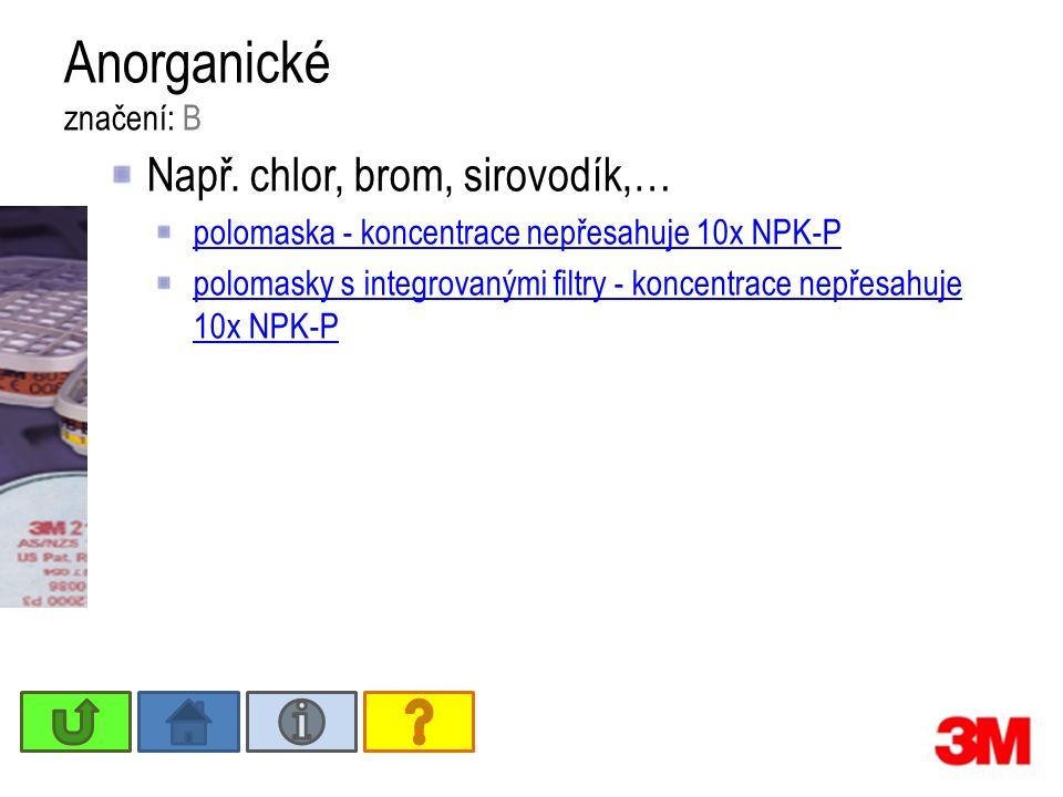 Anorganické značení: B Např.
