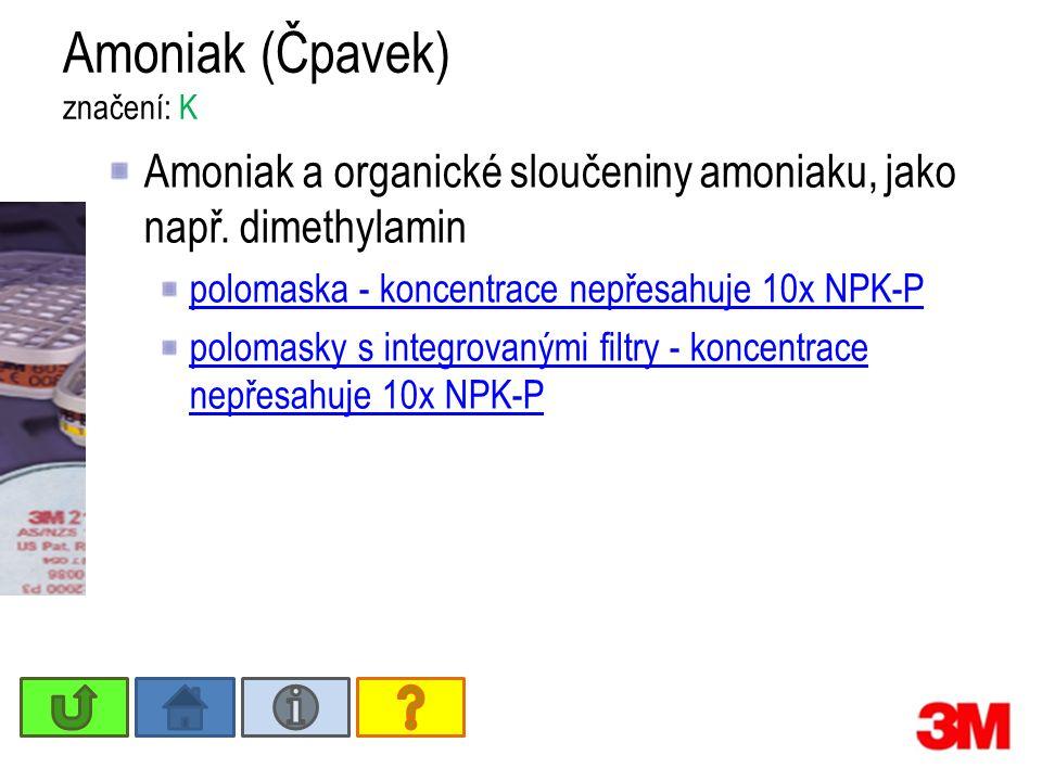 Amoniak (Čpavek) značení: K Amoniak a organické sloučeniny amoniaku, jako např.