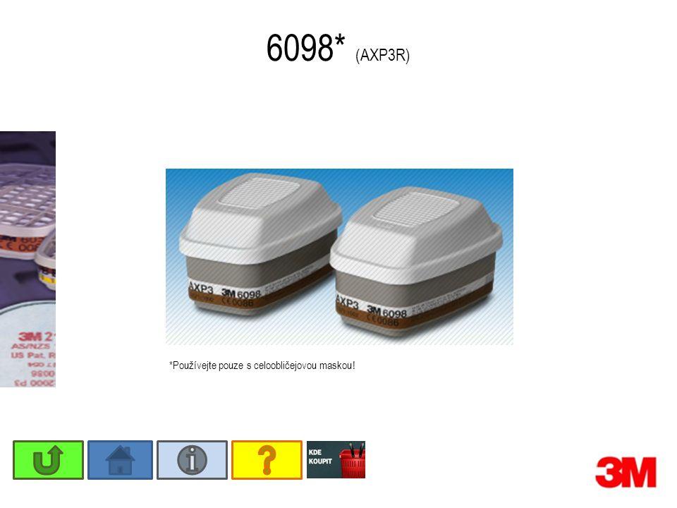 6098* (AXP3R) *Používejte pouze s celoobličejovou maskou !