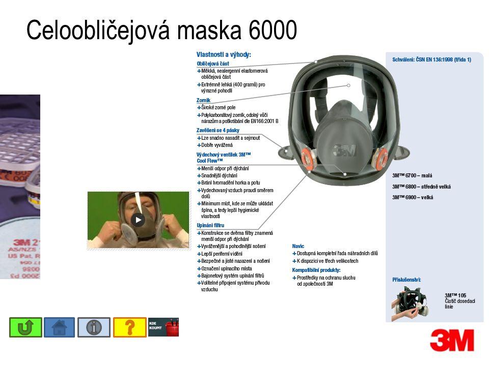 Celoobličejová maska 6000