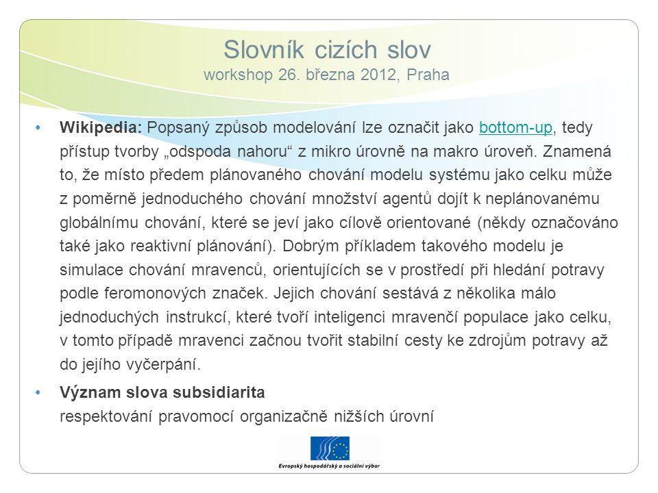 Slovník cizích slov workshop 26.