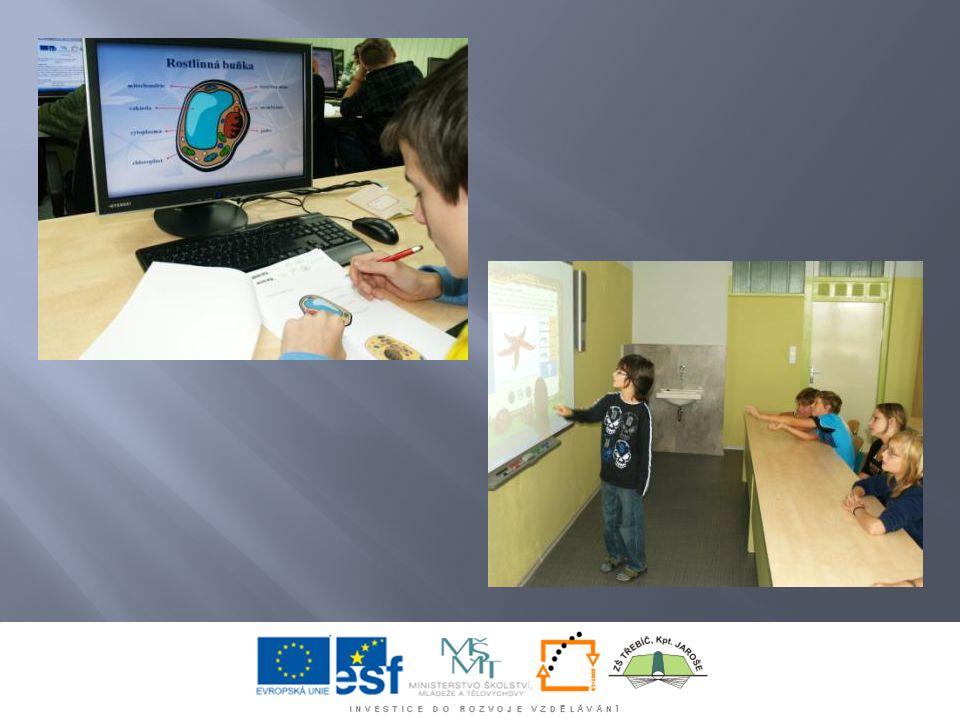 Jednou z hlavních aktivit při realizaci projektu je vytvoření webového portálu, na kterém mají žáci k dispozici učivo základní školy v elektronické podobě.