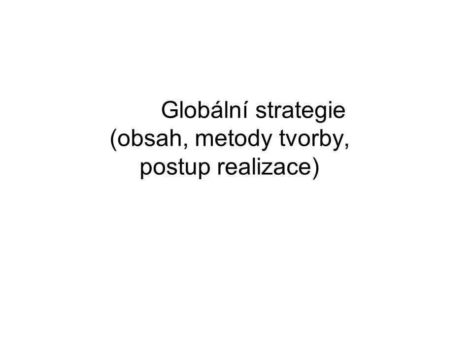 Globální strategie (obsah, metody tvorby, postup realizace)