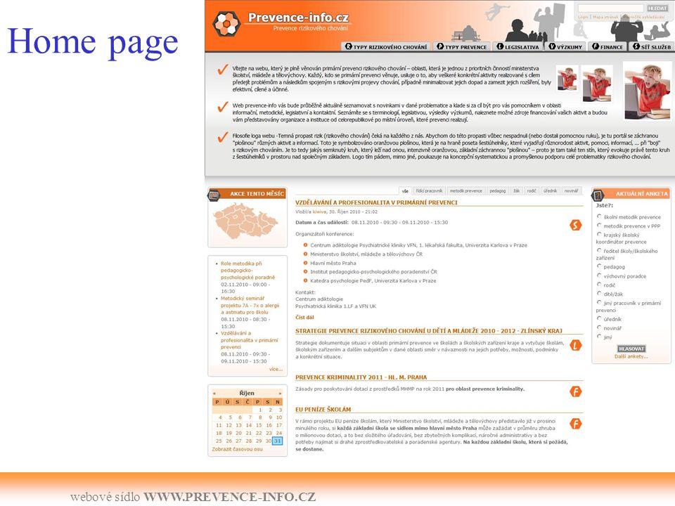 webové sídlo WWW.PREVENCE-INFO.CZ Finance