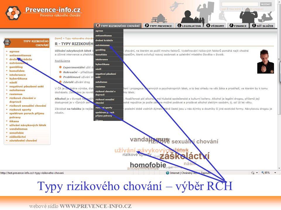webové sídlo WWW.PREVENCE-INFO.CZ RSS – možnost odběru novinek z financí