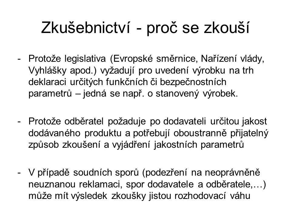 -Protože legislativa (Evropské směrnice, Nařízení vlády, Vyhlášky apod.) vyžadují pro uvedení výrobku na trh deklaraci určitých funkčních či bezpečnos