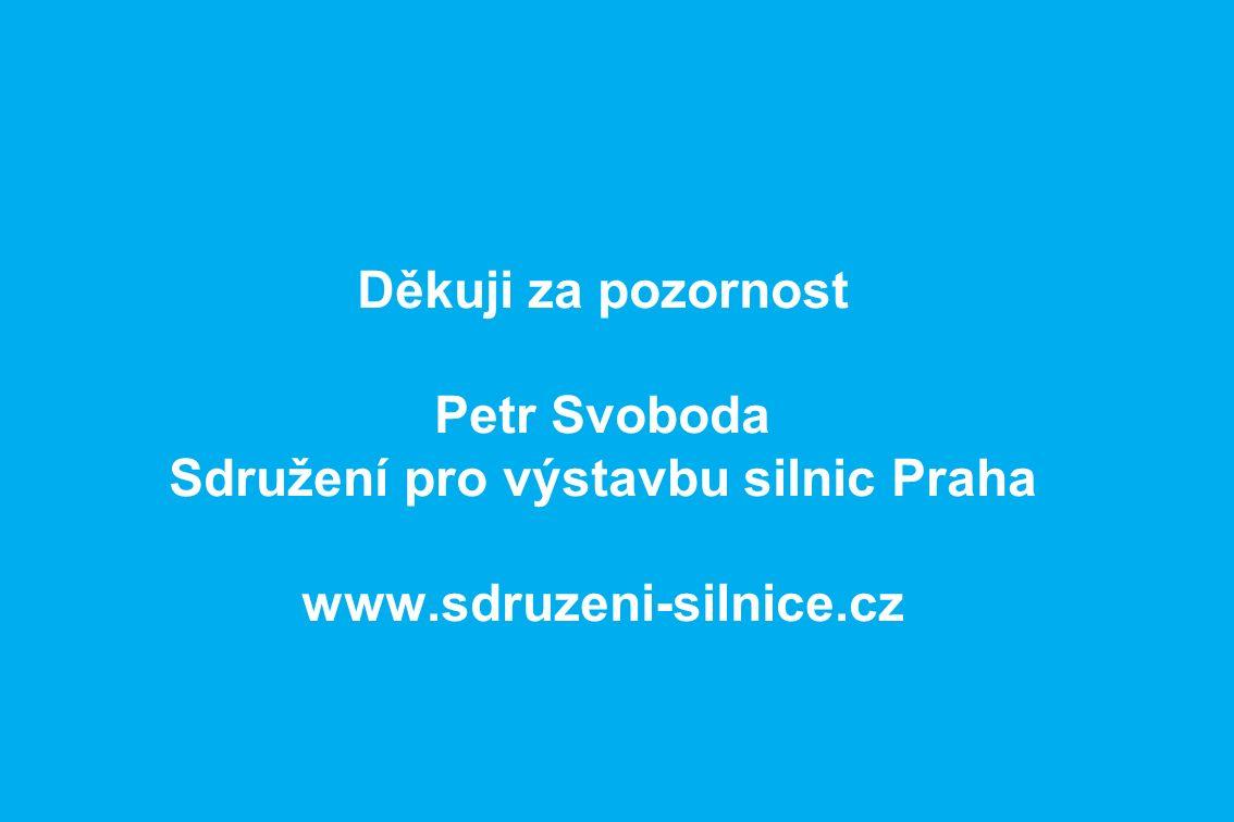 Děkuji za pozornost Petr Svoboda Sdružení pro výstavbu silnic Praha www.sdruzeni-silnice.cz