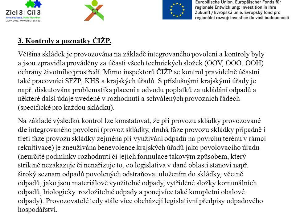 3. Kontroly a poznatky ČIŽP.