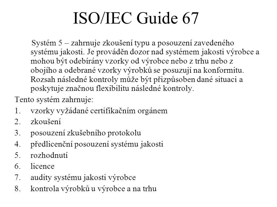 ISO/IEC Guide 67 Systém 5 – zahrnuje zkoušení typu a posouzení zavedeného systému jakosti. Je prováděn dozor nad systémem jakosti výrobce a mohou být