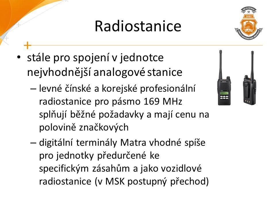 Radiostanice stále pro spojení v jednotce nejvhodnější analogové stanice – levné čínské a korejské profesionální radiostanice pro pásmo 169 MHz splňuj