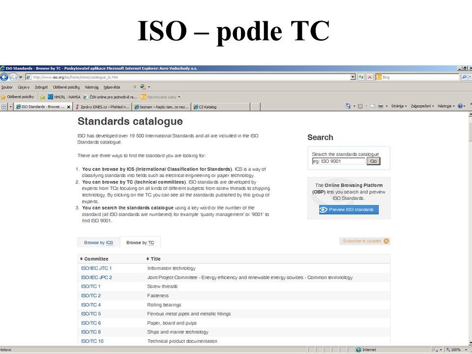 ISO – podle TC