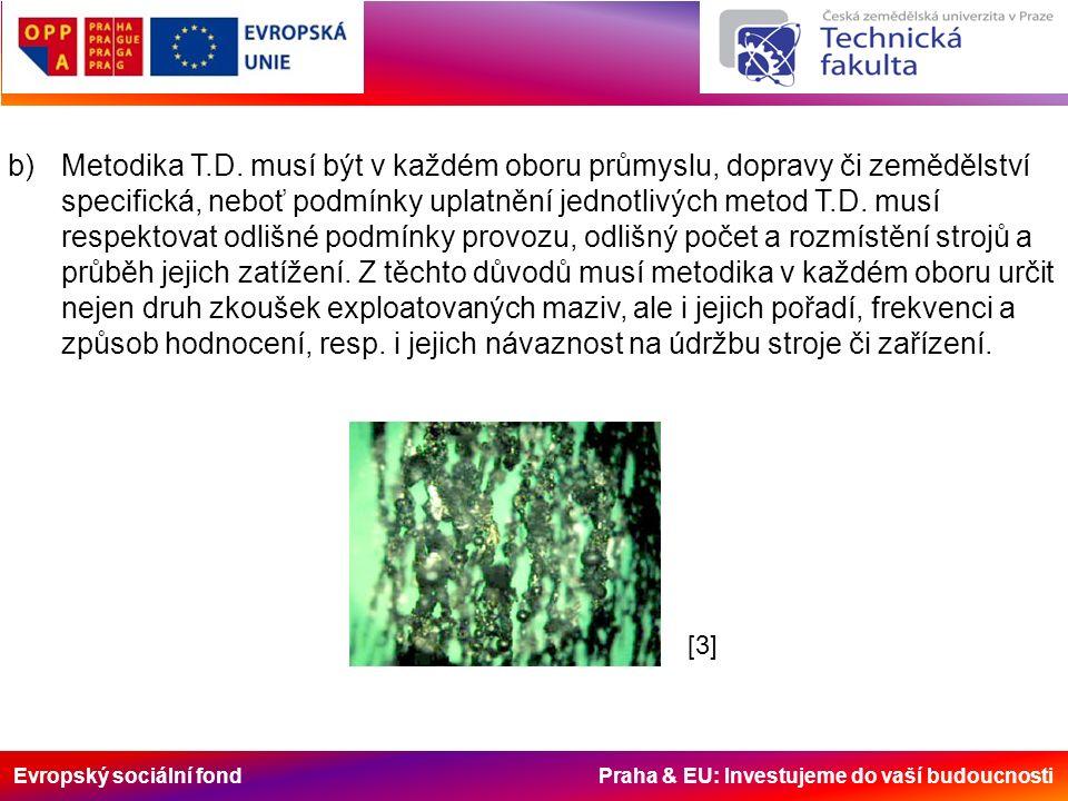 Evropský sociální fond Praha & EU: Investujeme do vaší budoucnosti b)Metodika T.D.