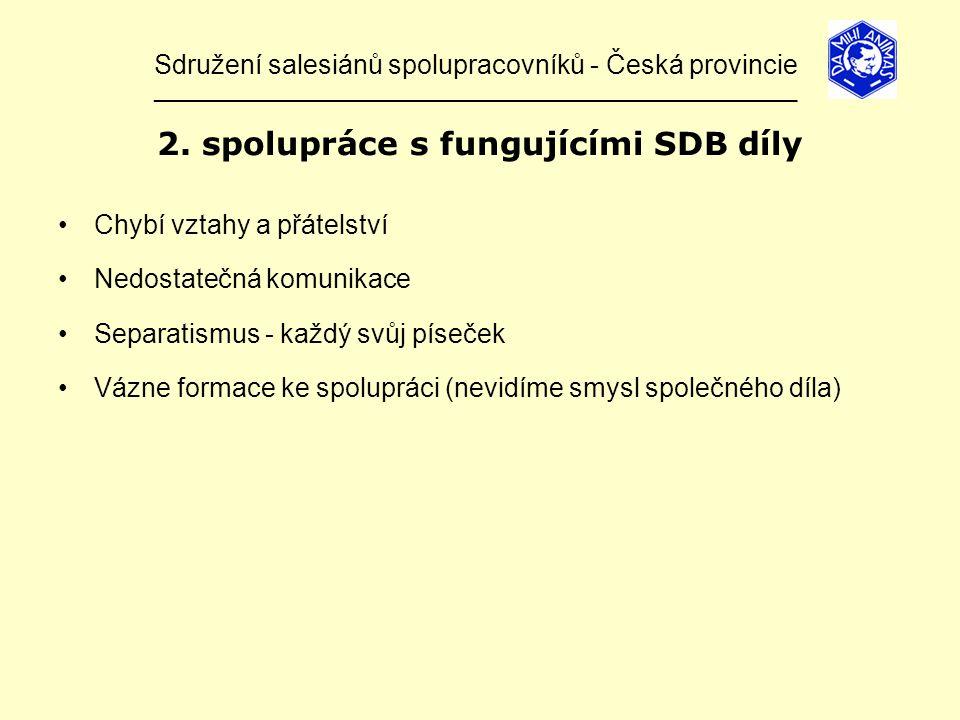 Sdružení salesiánů spolupracovníků - Česká provincie ______________________________________________________________ 2.
