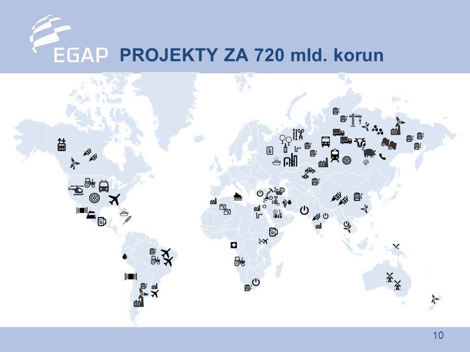 10 PROJEKTY ZA 720 mld. korun