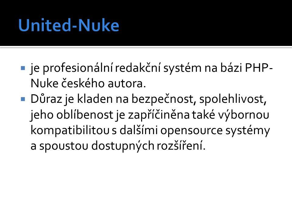 je profesionální redakční systém na bázi PHP- Nuke českého autora.