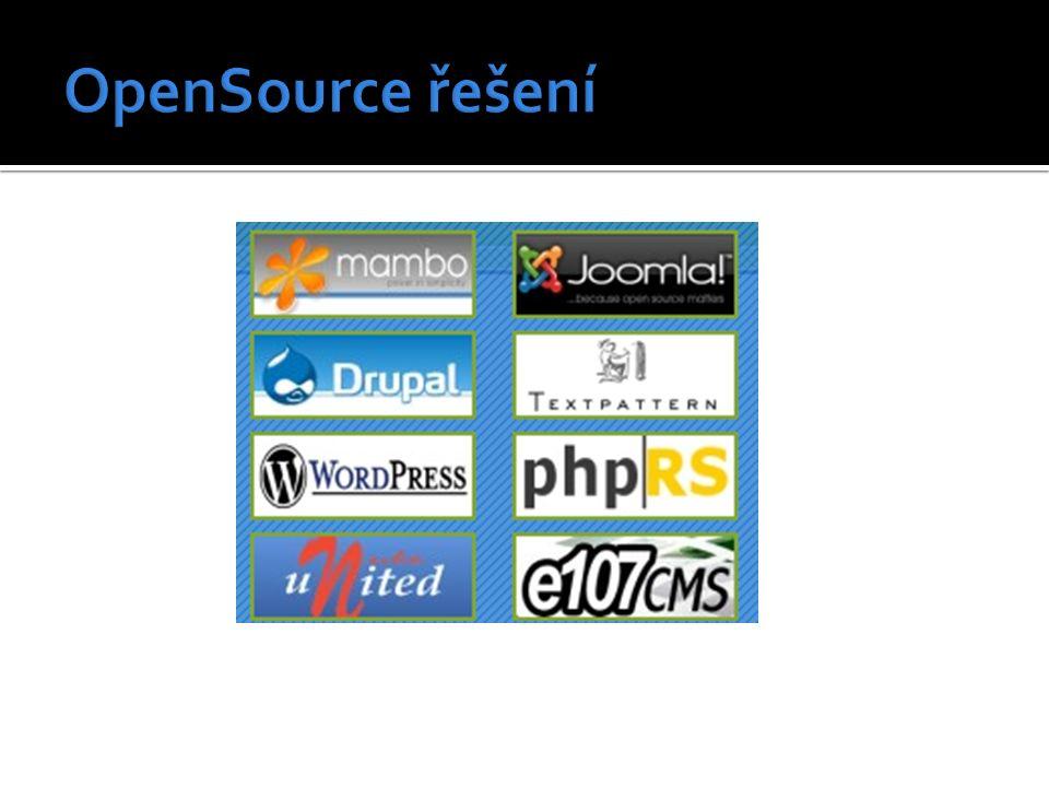 Mambo – http://www.mambodrom.cz/http://www.mambodrom.cz/  Výkonný redakční systém používaný na jednoduchých stránkách i firemních webech.