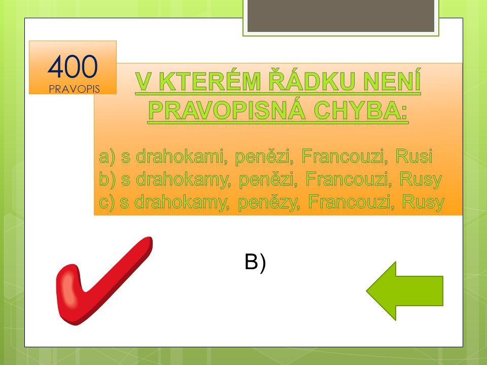 B) 400 PRAVOPIS