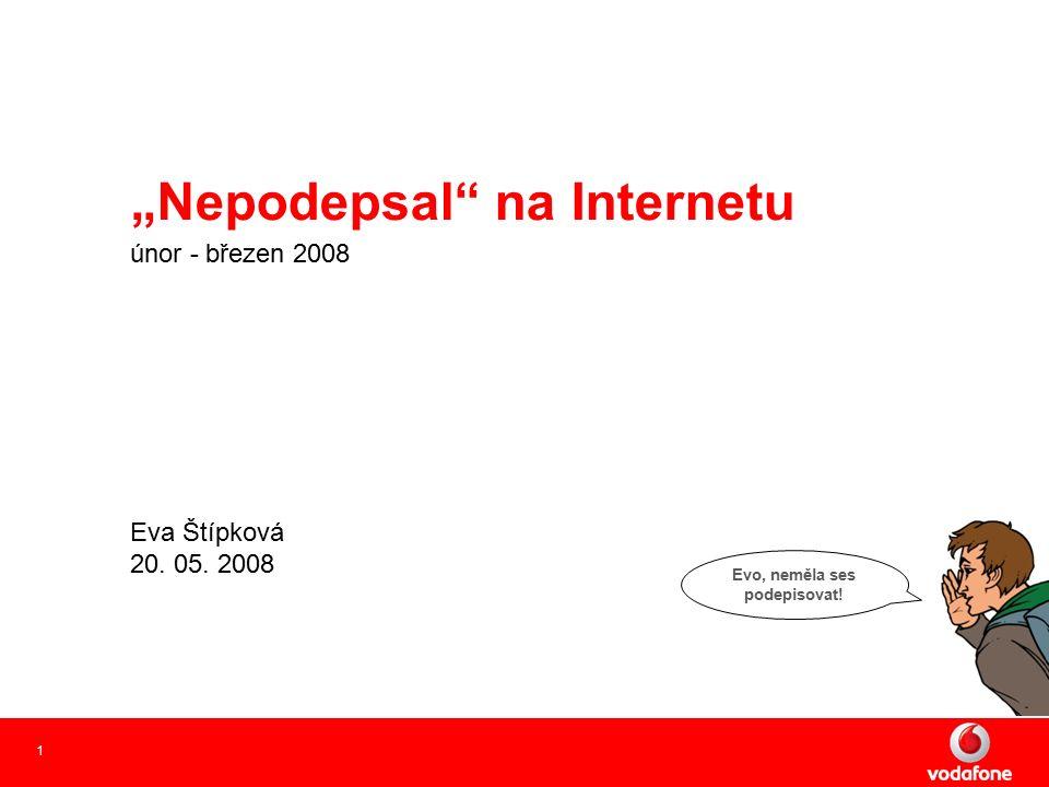 """1 """"Nepodepsal na Internetu únor - březen 2008 Eva Štípková 20."""