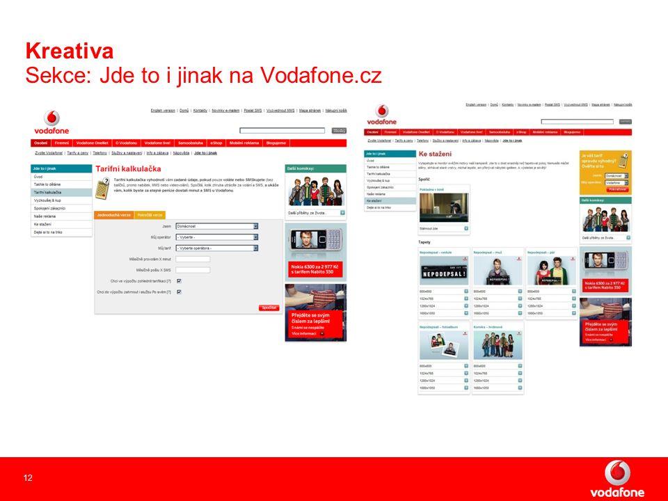 12 Kreativa Sekce: Jde to i jinak na Vodafone.cz