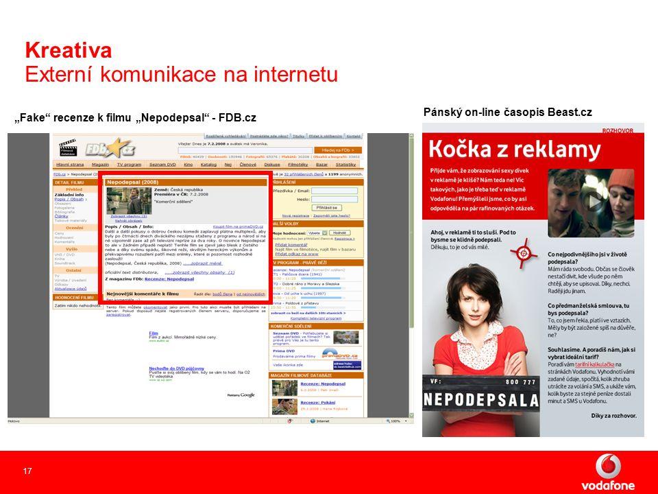 """17 Kreativa Externí komunikace na internetu """"Fake recenze k filmu """"Nepodepsal - FDB.cz Pánský on-line časopis Beast.cz"""