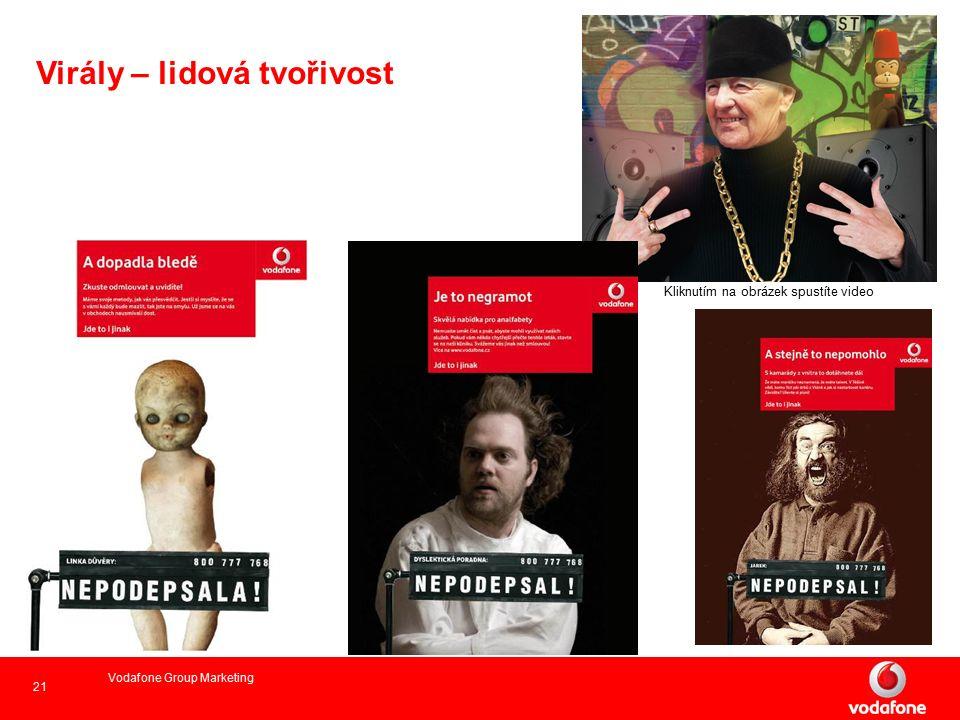 21 Vodafone Group Marketing Kliknutím na obrázek spustíte video Virály – lidová tvořivost
