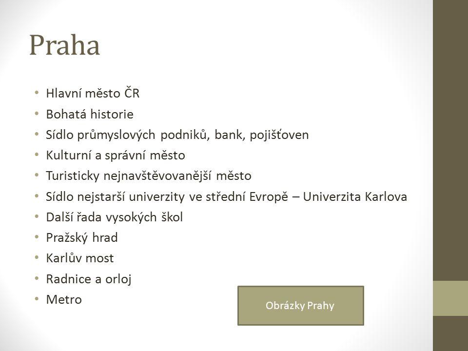 Středočeský kraj Největší kraj České republiky Na severu Polabská nížina, na jihu Středočeská pahorkatina Základem hospodářství je průmysl – např.