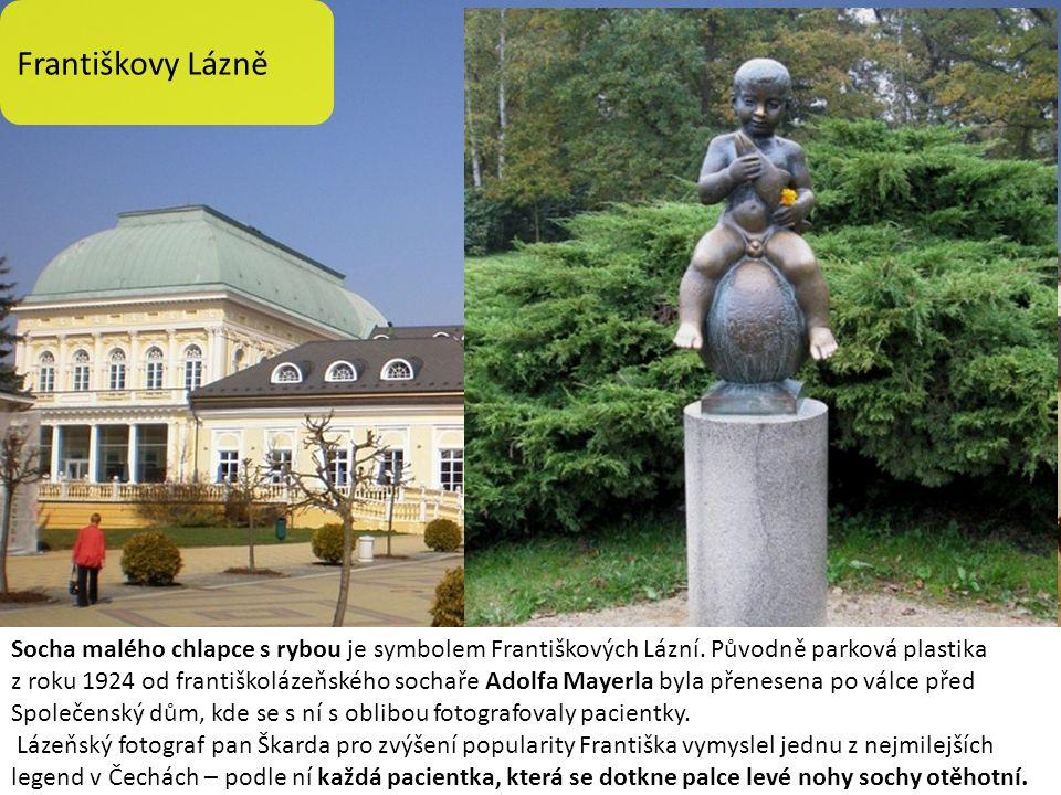 Františkovy Lázně Socha malého chlapce s rybou je symbolem Františkových Lázní. Původně parková plastika z roku 1924 od františkolázeňského sochaře Ad