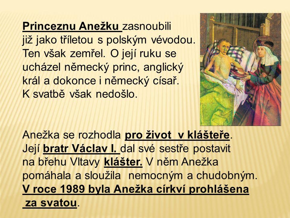 Princeznu Anežku zasnoubili již jako tříletou s polským vévodou.