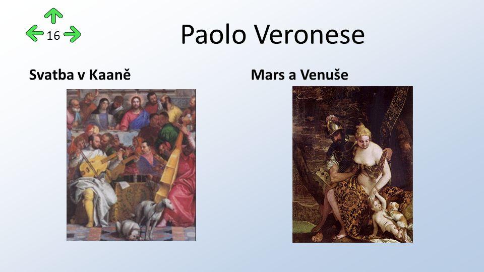 Paolo Veronese Svatba v KaaněMars a Venuše 16