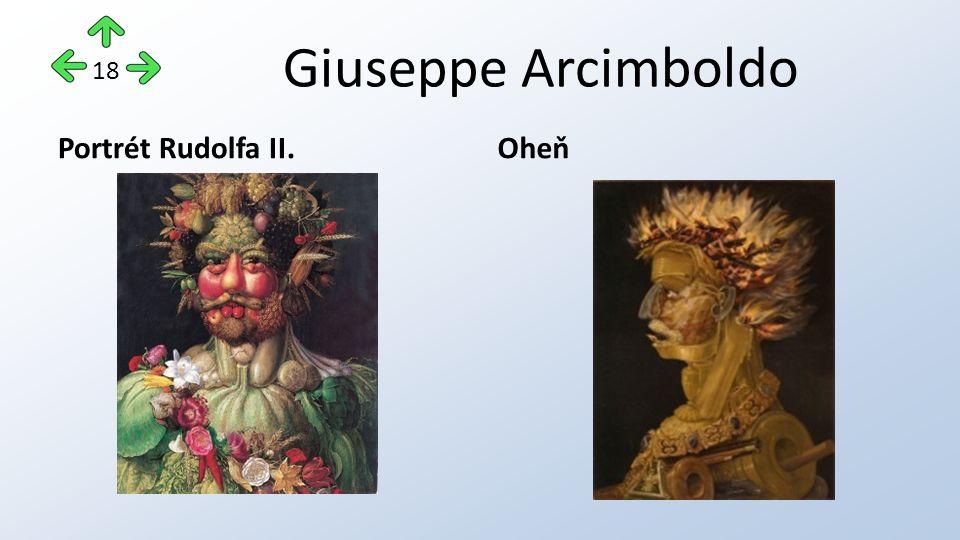 Giuseppe Arcimboldo Portrét Rudolfa II.Oheň 18