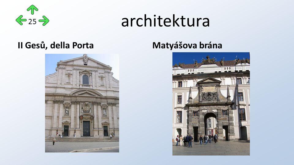 architektura II Gesů, della PortaMatyášova brána 25