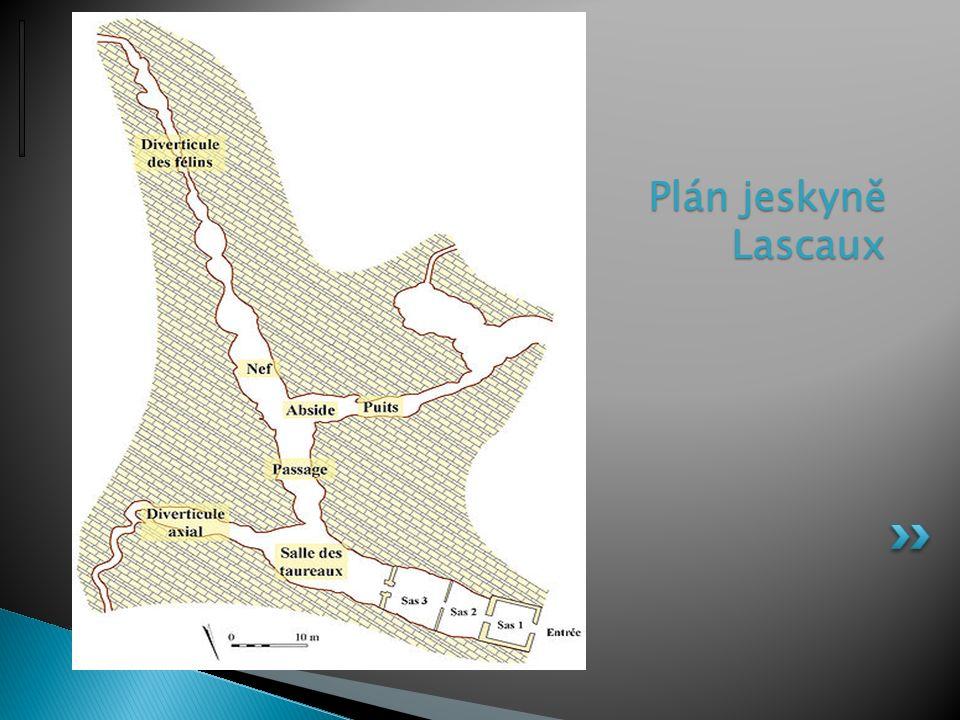 Plán jeskyně Lascaux