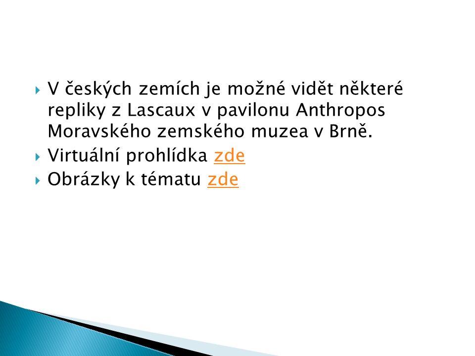  V českých zemích je možné vidět některé repliky z Lascaux v pavilonu Anthropos Moravského zemského muzea v Brně.