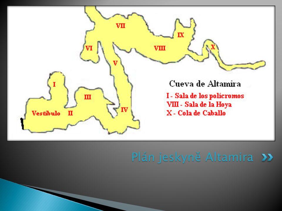 Plán jeskyně Altamira