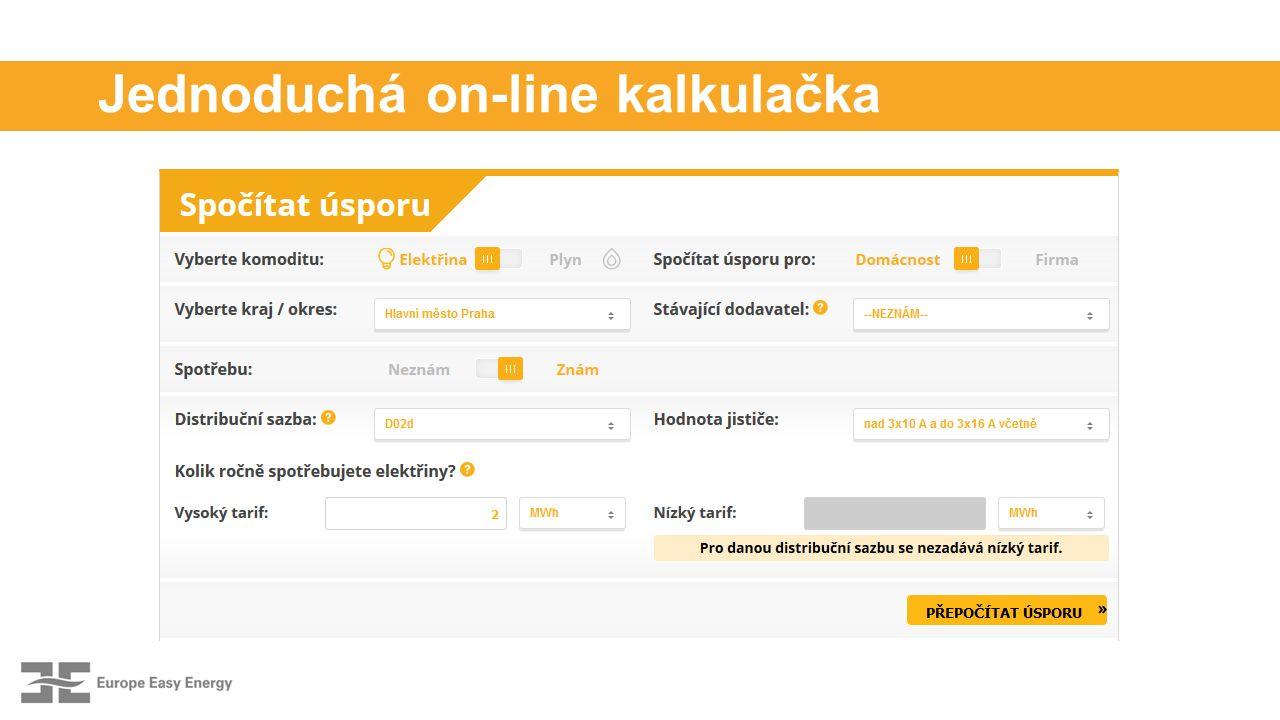 Jednoduchá on-line kalkulačka