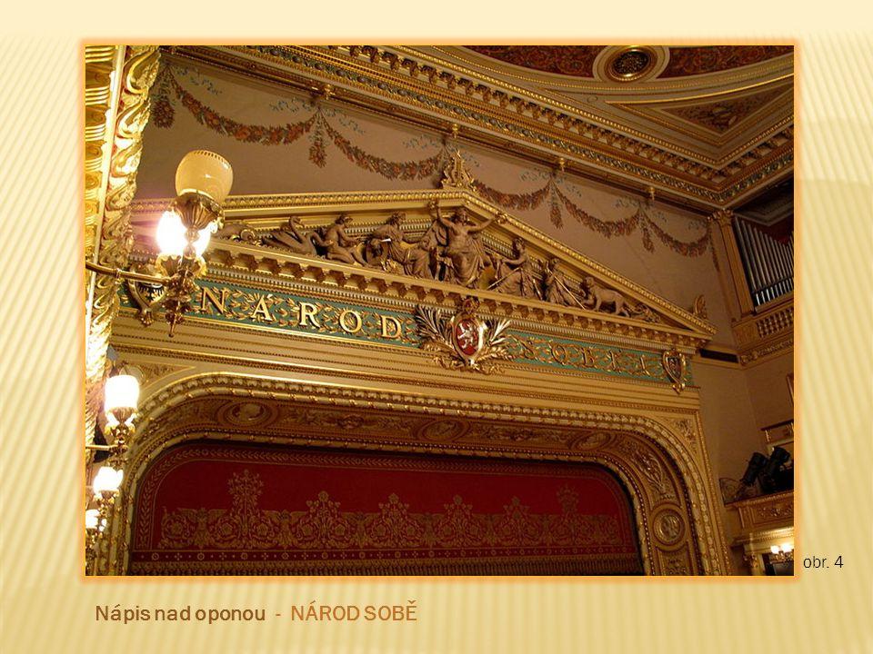 obr. 5 Josef Ženíšek - původní opona Národního divadla před požárem 1881